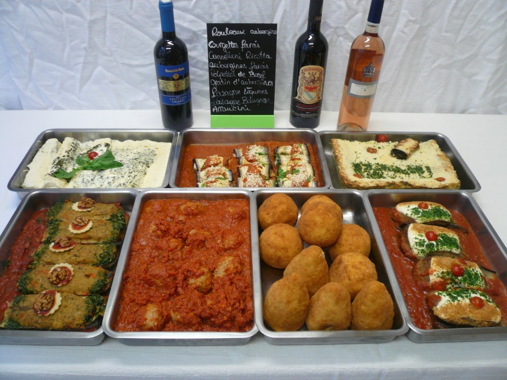 Buffet traiteur italien